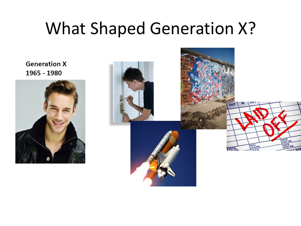 What Shaped Generation X Generation X