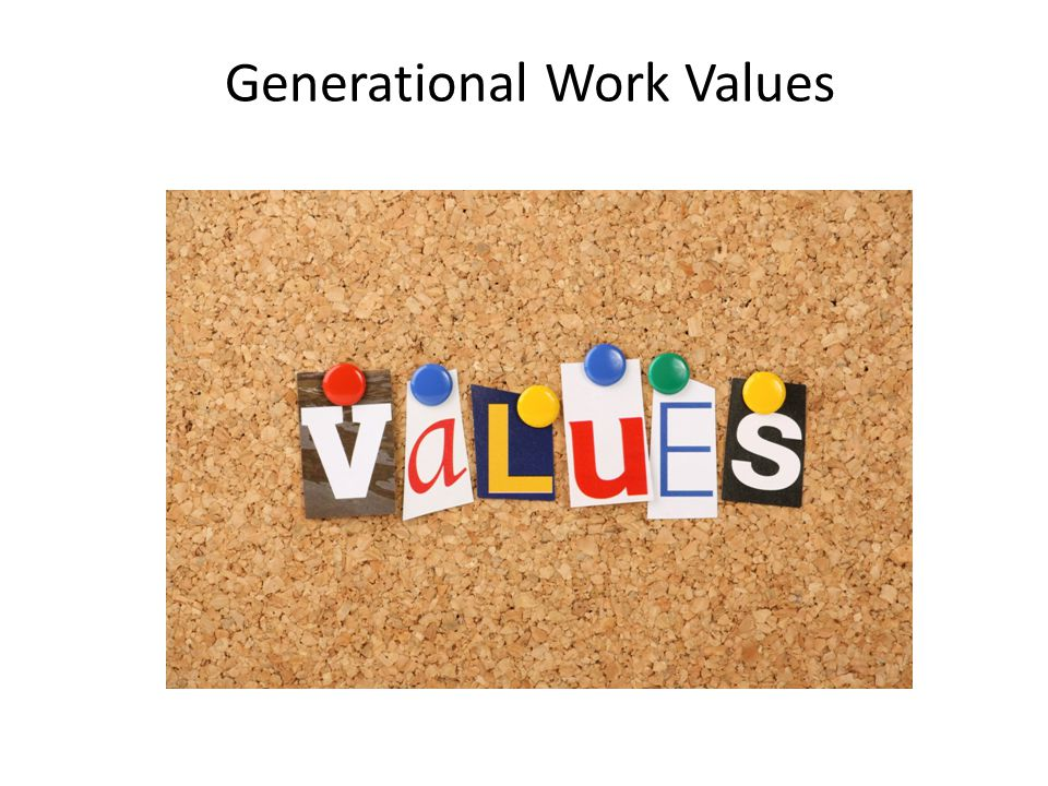 Generational Work Values