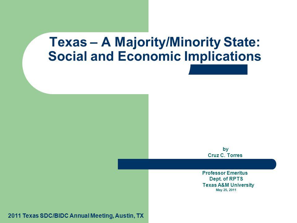 By Cruz C. Torres Professor Emeritus Dept. of RPTS Texas A&M ...