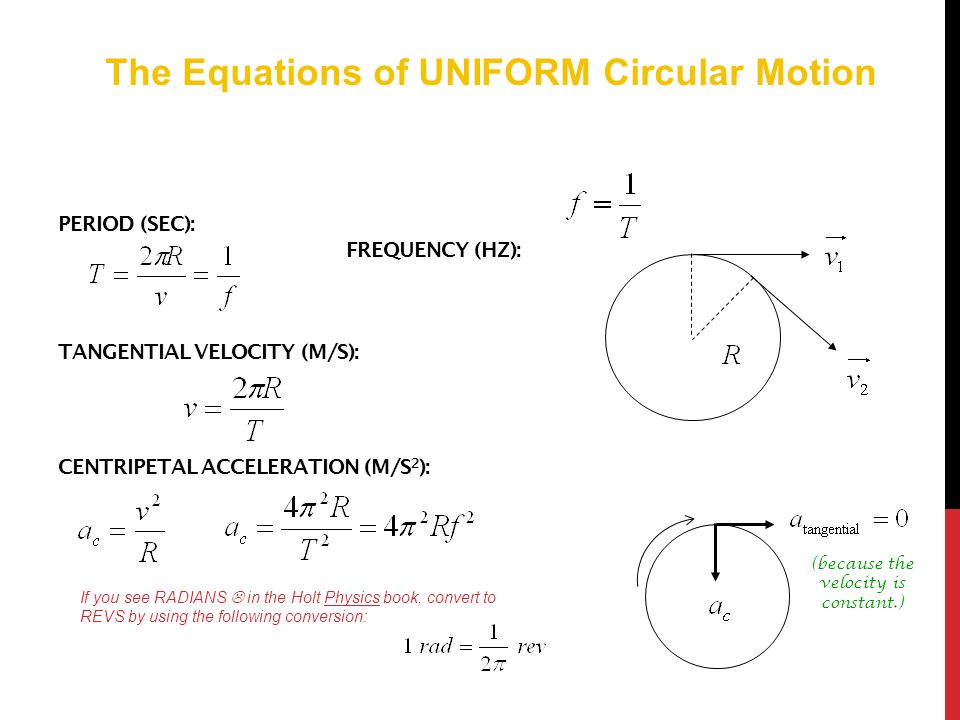 CIRCULAR MOTION  NEWTON'S 1 ST LAW In order to understand how and