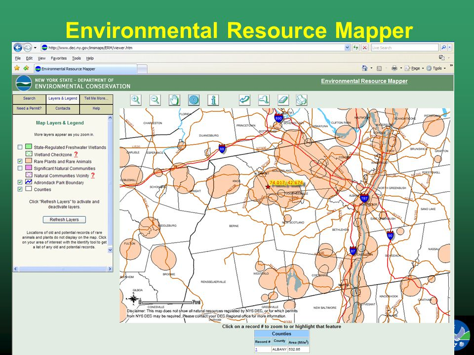 NYS Department of Environmental Conservation Fish, Wildlife & Marine Resources Environmental Resource Mapper