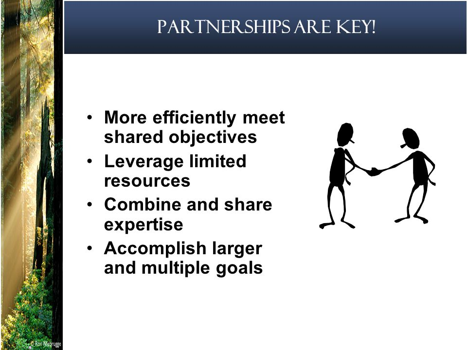 7 Partnerships are Key.