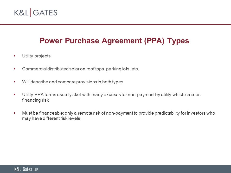 Financing Incentives In The Stimulus Package Project Finance Basics - Solar power purchase agreement template