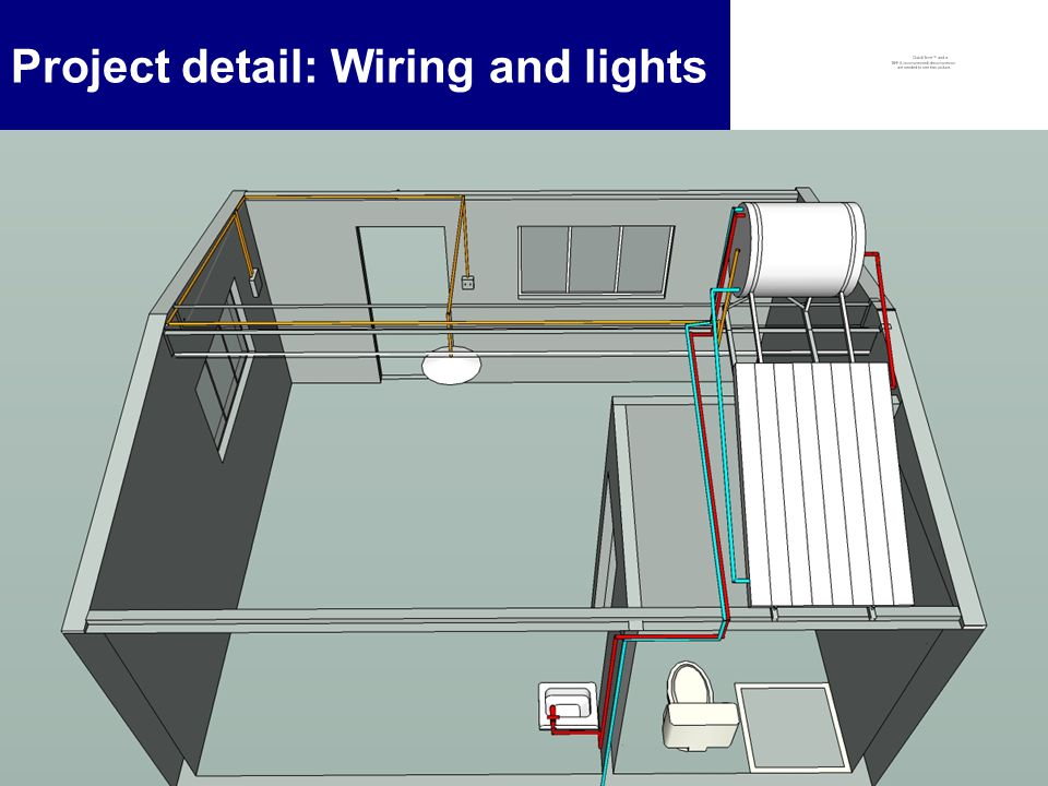 8 Project detail: Wiring and lights