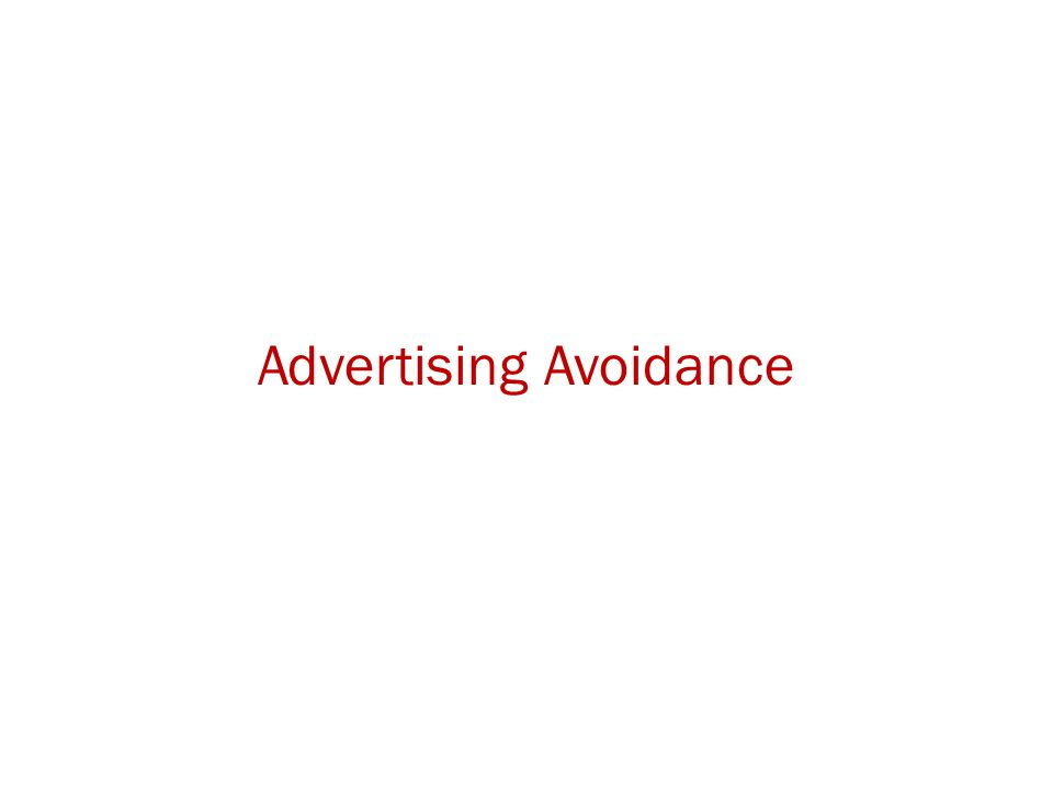 Advertising Avoidance