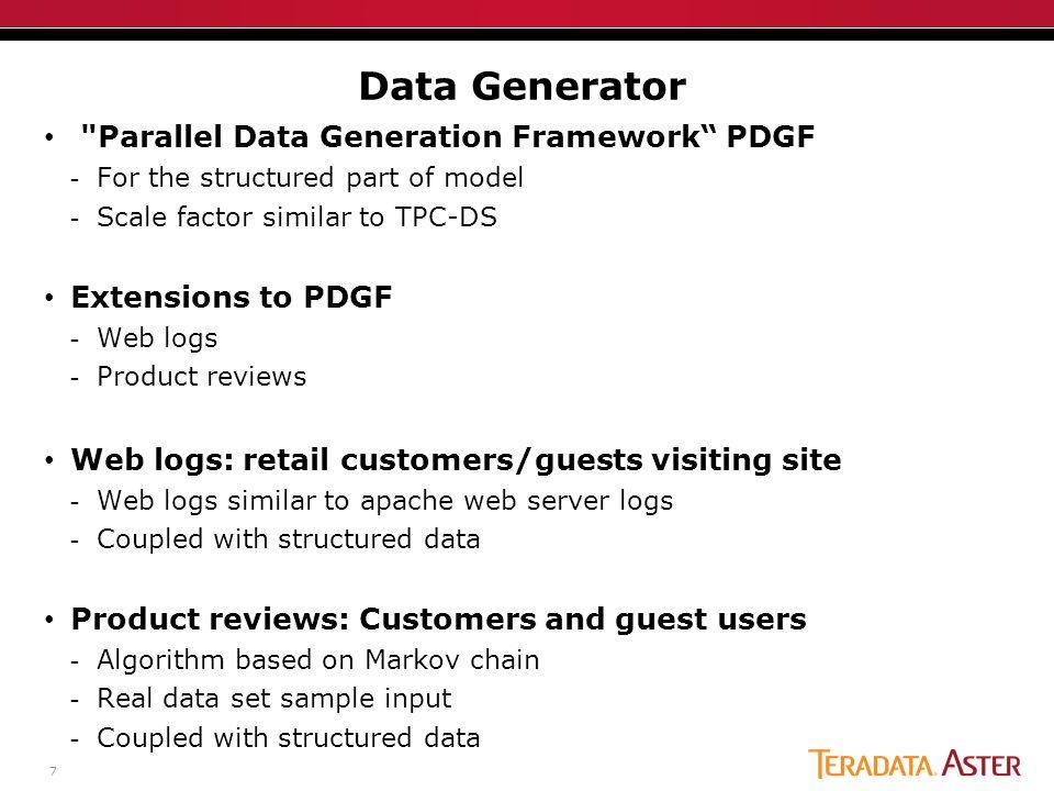 BigBench: Big Data Benchmark Proposal Ahmad Ghazal, Tilmann