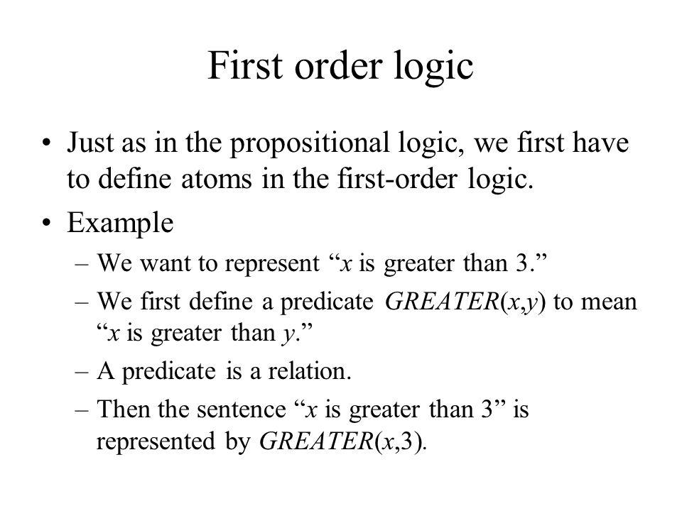 Natural language processing  first-order predicate logic.