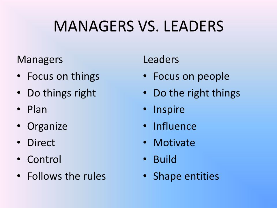 MANAGERS VS.