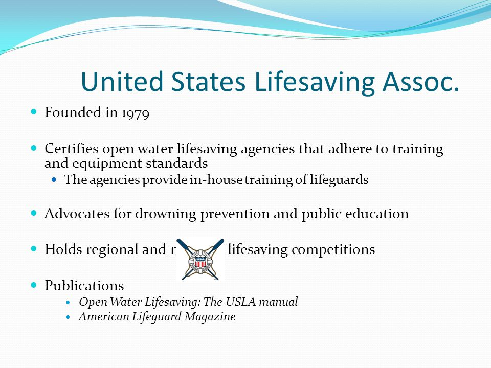c7636e39fb7 United States Lifesaving Association Salvavidas International Andrew ...