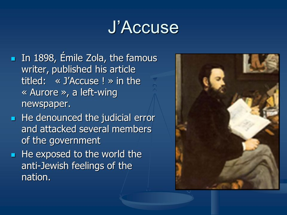Image result for j'accuse published on this day in 1898