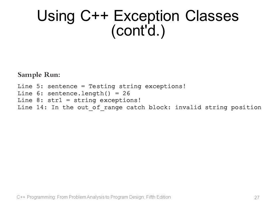 Chapter 16: Exception Handling C++ Programming: From Problem