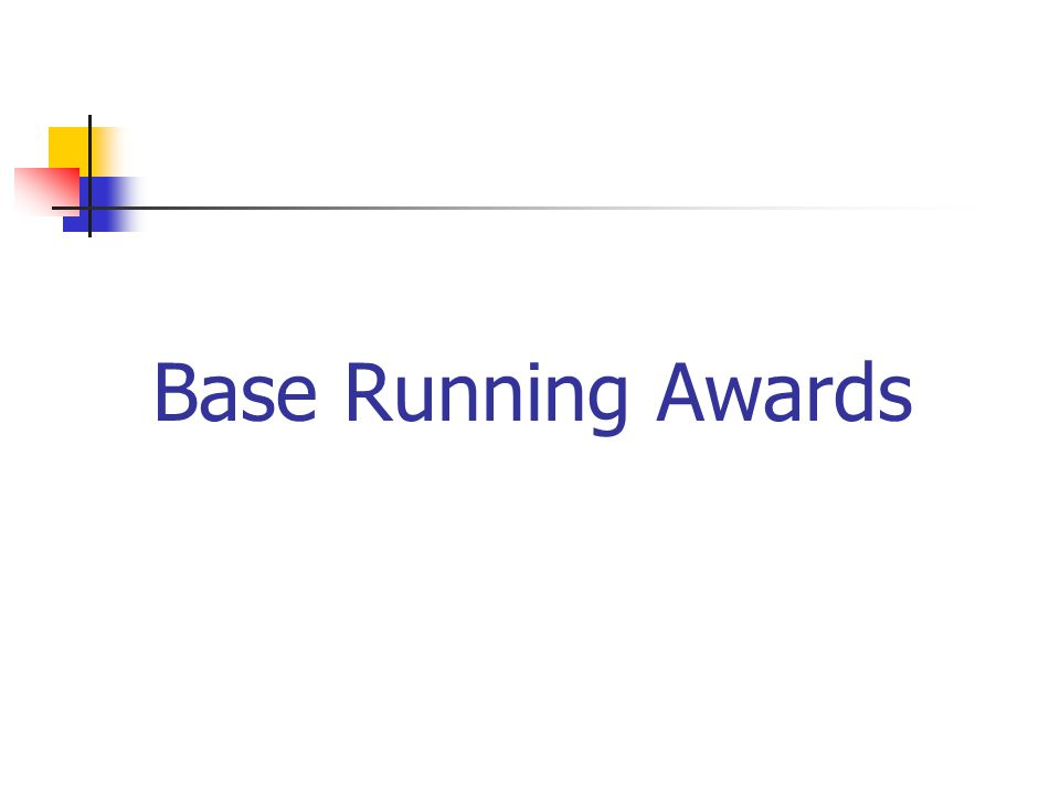 Base Running Awards
