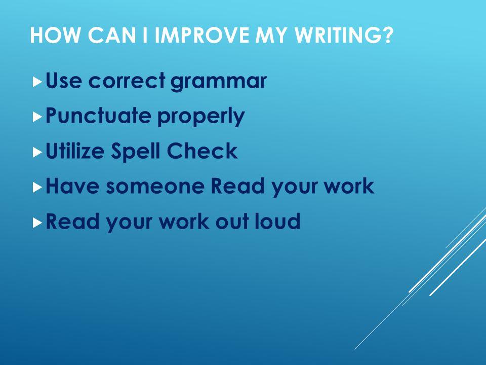 check my writing skills