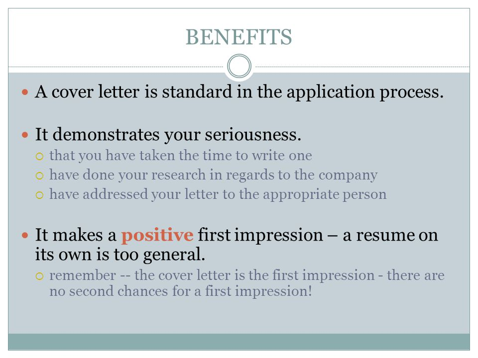 COVER LETTERS. PURPOSE To explain why you are sending your resume ...