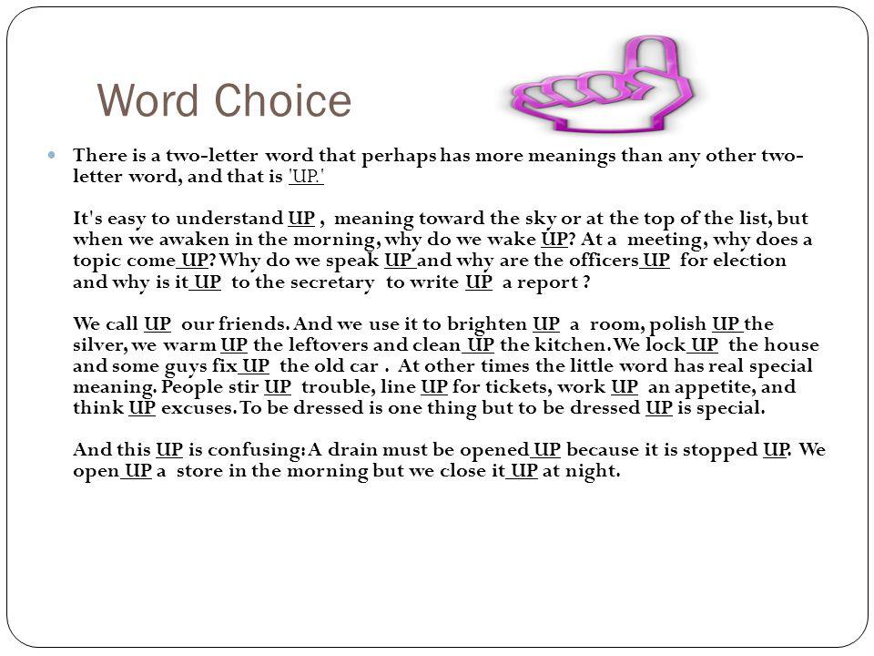 English Language Arts Punctuation & Diction An English professor