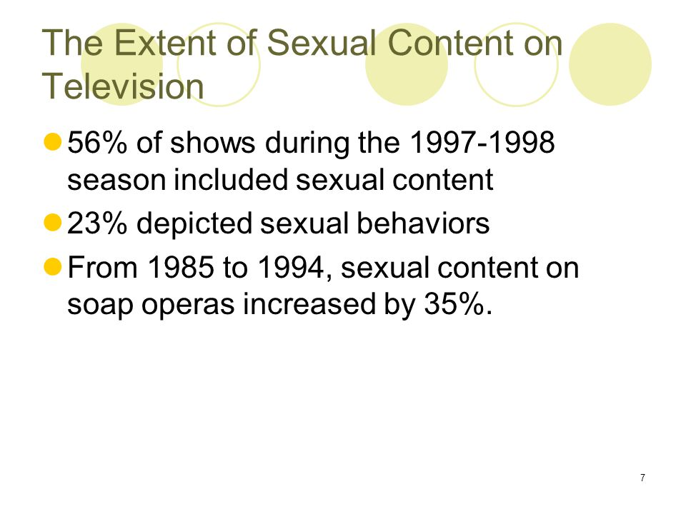 Sexual content on television