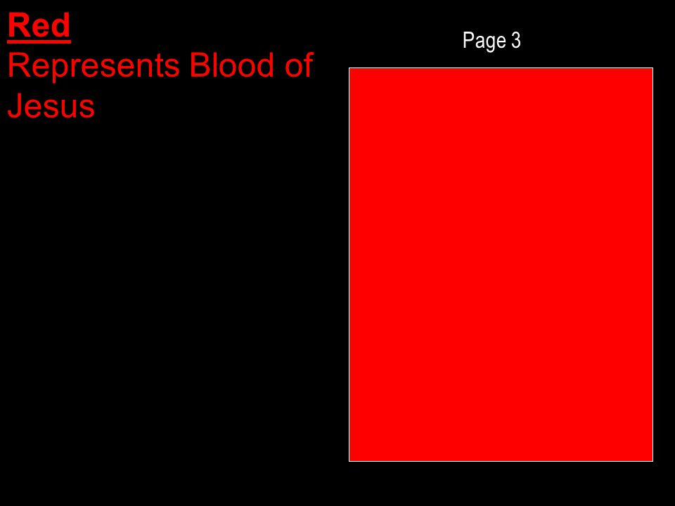 Page 3 Red Represents Blood of Jesus