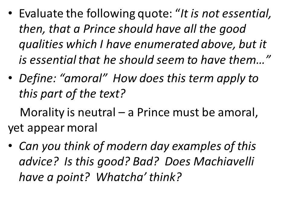 niccolo machiavelli the qualities of the prince