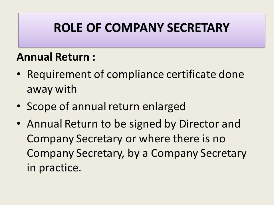 224 Company Secretary Or Secretary Means A Company Secretary