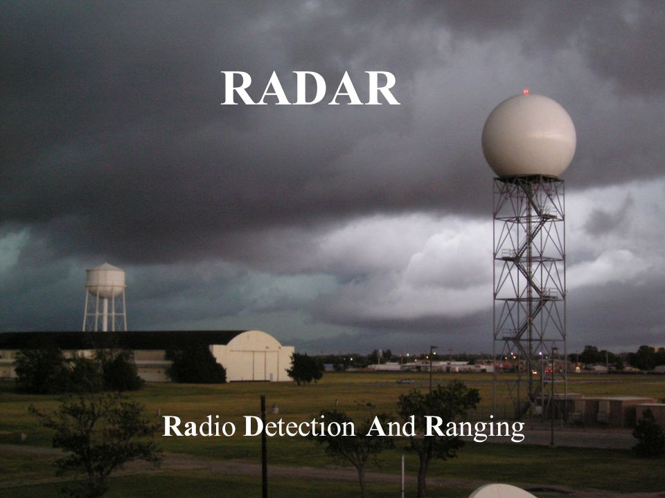 RADAR Radio Detection And Ranging