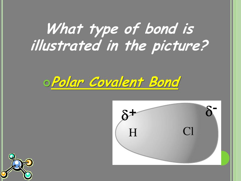 What type of bond is illustrated in the picture Polar Covalent Bond + + --