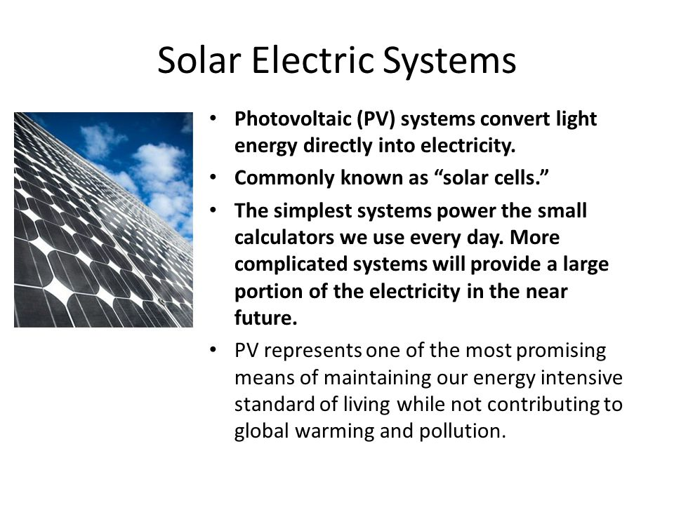 Solar Energy Basics Thermal and PV Joe Rand KidWind Project - ppt ...