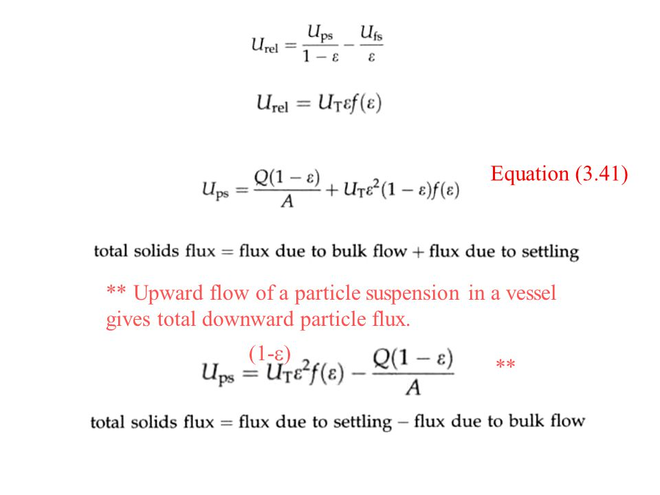 ** Upward flow of a particle suspension in a vessel gives total downward particle flux.