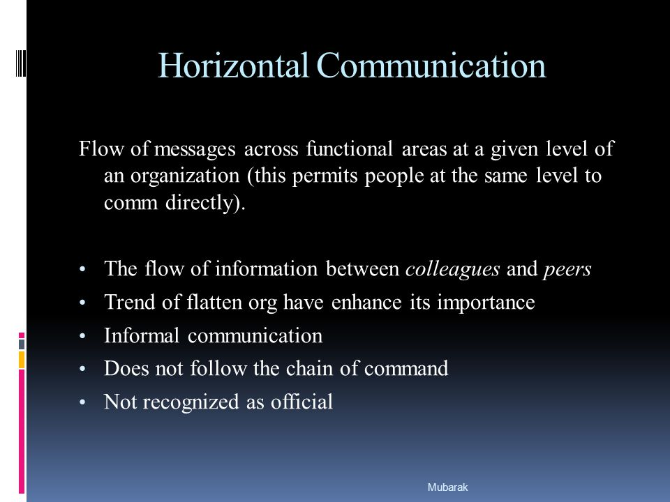 examples of informal communication in an organization