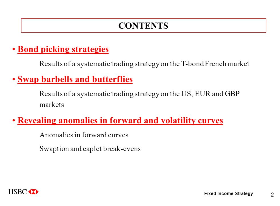 EXPLORING SOME ALTERNATIVE FIXED-INCOME STRATEGIES Philippe
