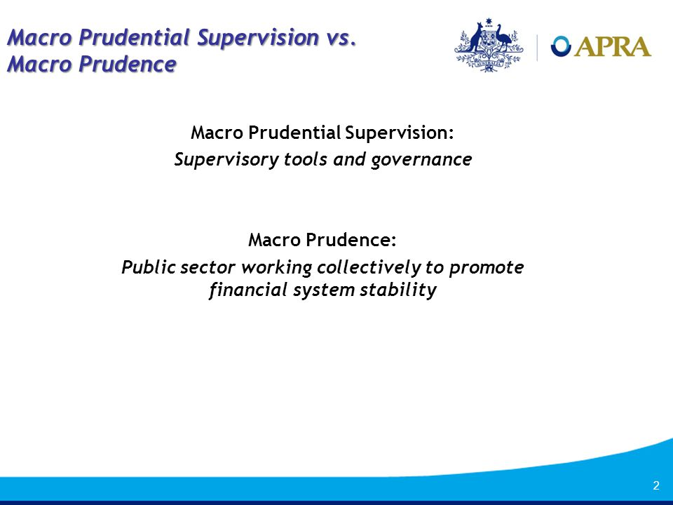 1 Macro Prudence vs  Macro Prudential Regulation: Public