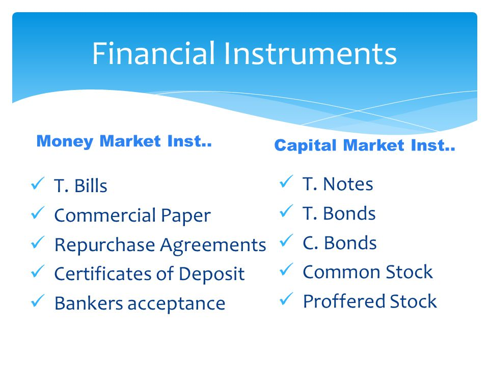 Money Market Inst.. T.
