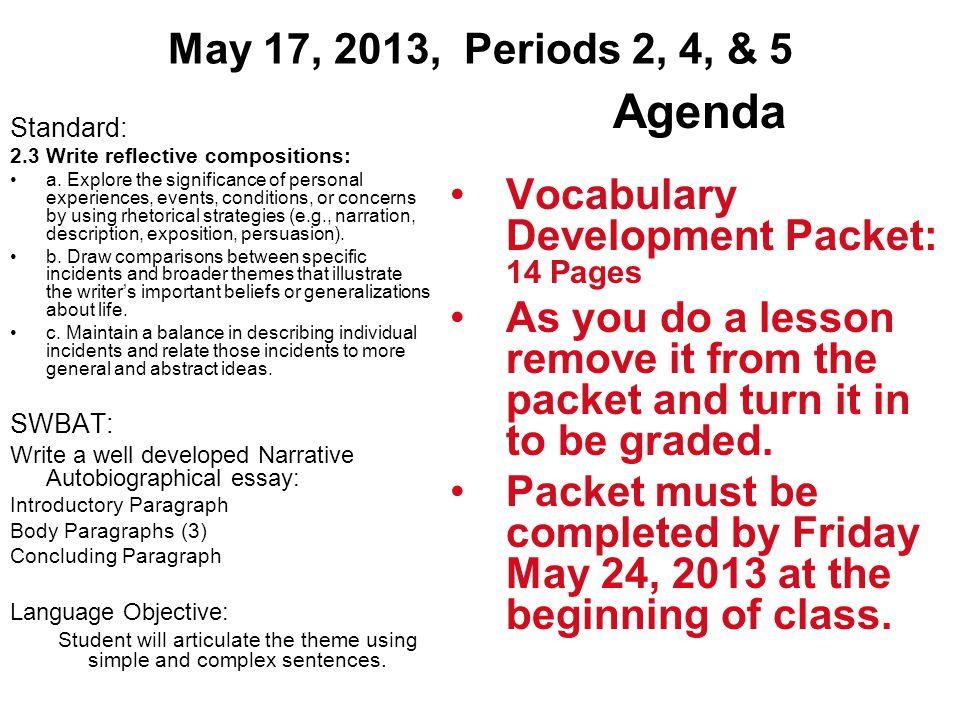 standard 2 personal development answers