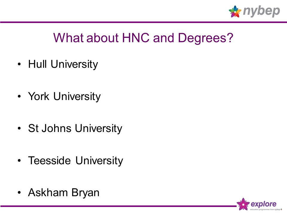 What about HNC and Degrees.