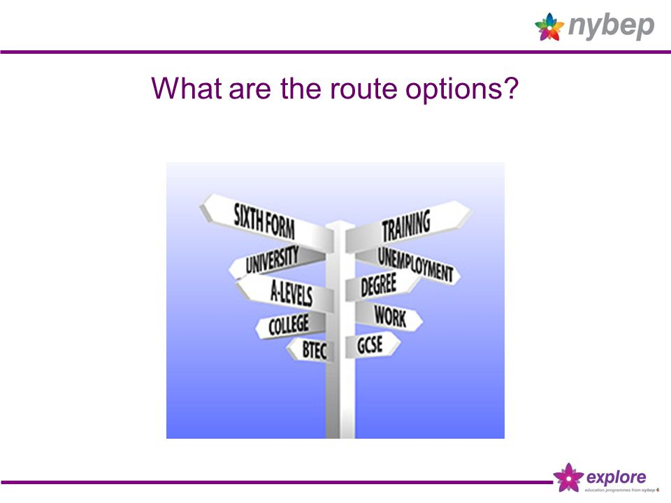What are the route options