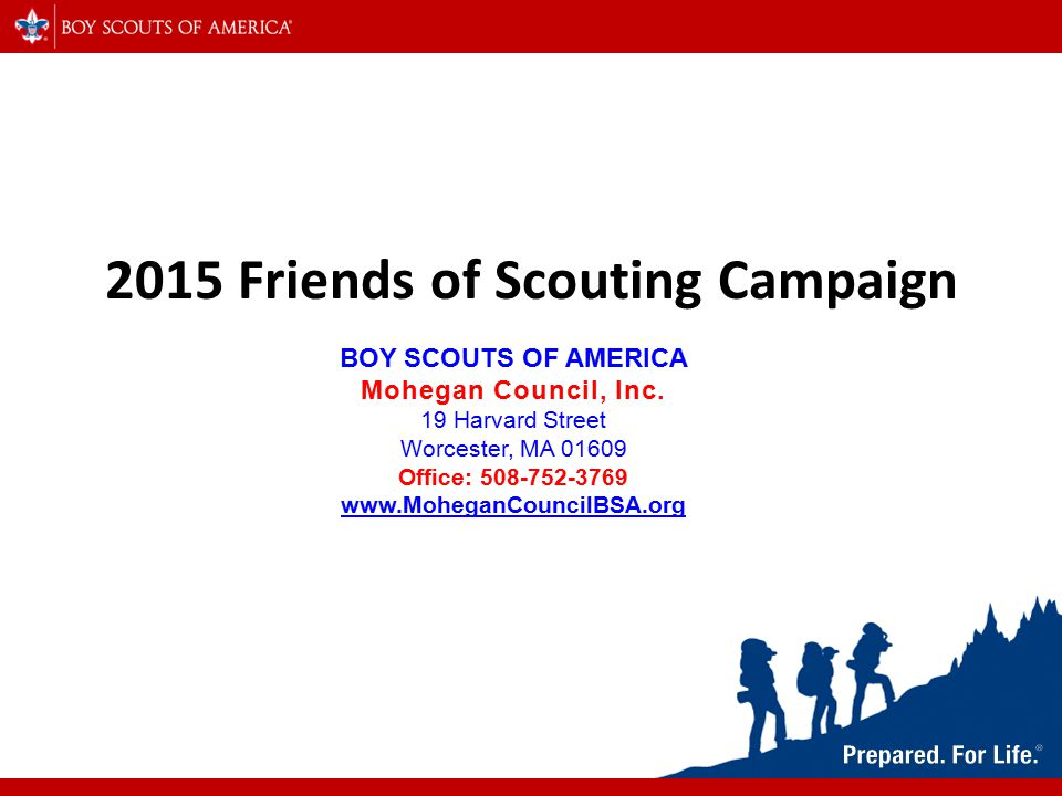 2015 Friends of Scouting Campaign BOY SCOUTS OF AMERICA
