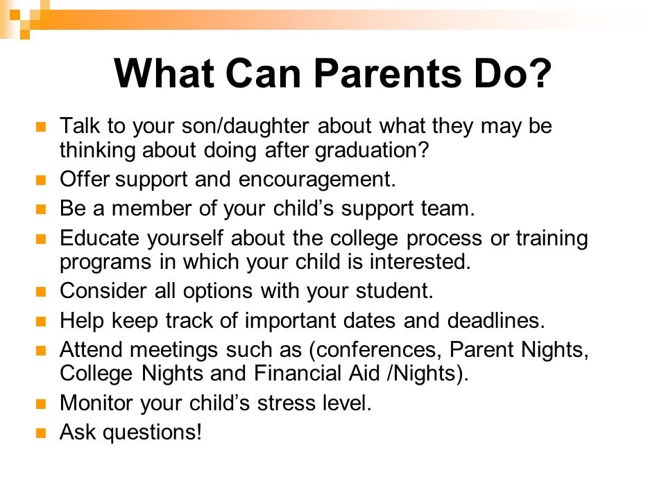 What Can Parents Do.