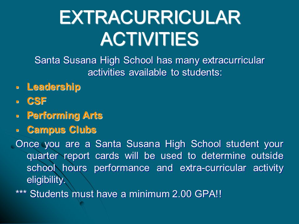 extracurricular activity essays In this essay, students write about an extracurricular activity or community service project that was especially meaningful to them this essay was previously on the standard common application, but was removed starting in the 2014-15 application season.