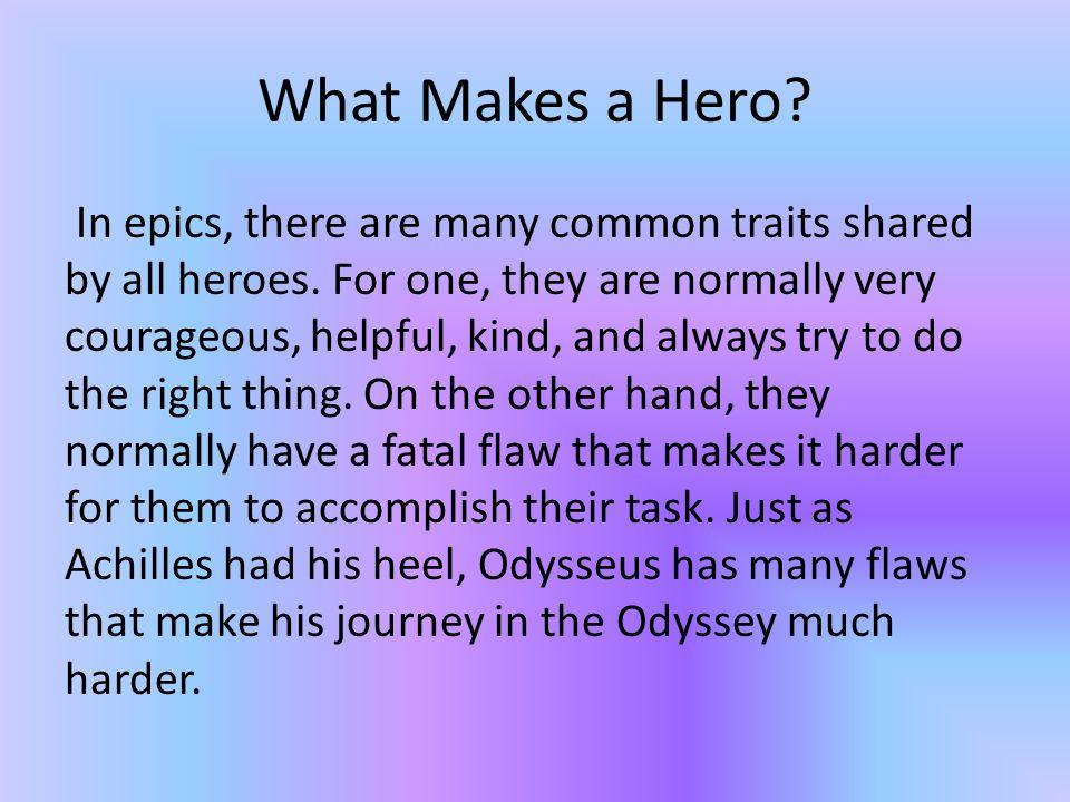 how is odysseus a hero
