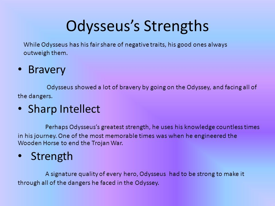 Why Odysseus Is A Hero