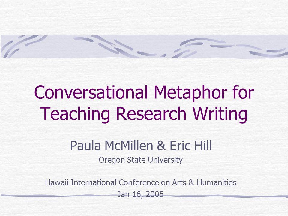 Conversational Metaphor for Teaching Research Writing Paula