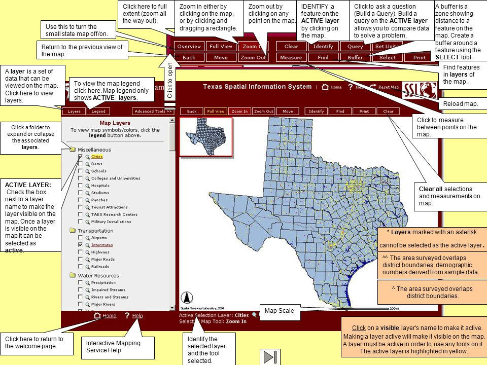 Getting Started With Spatial Thinking Sarah Witham Bednarz Texas - State check off map