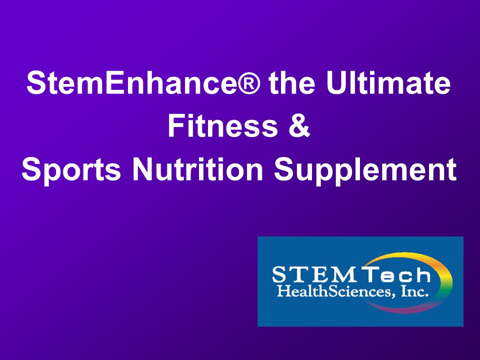 1 StemEnhance R The Ultimate Fitness Sports Nutrition Supplement