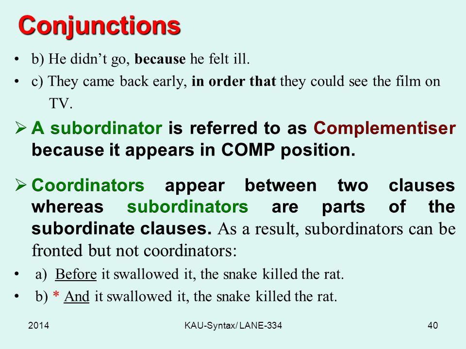 Conjunctions 2014KAU-Syntax/ LANE-33440