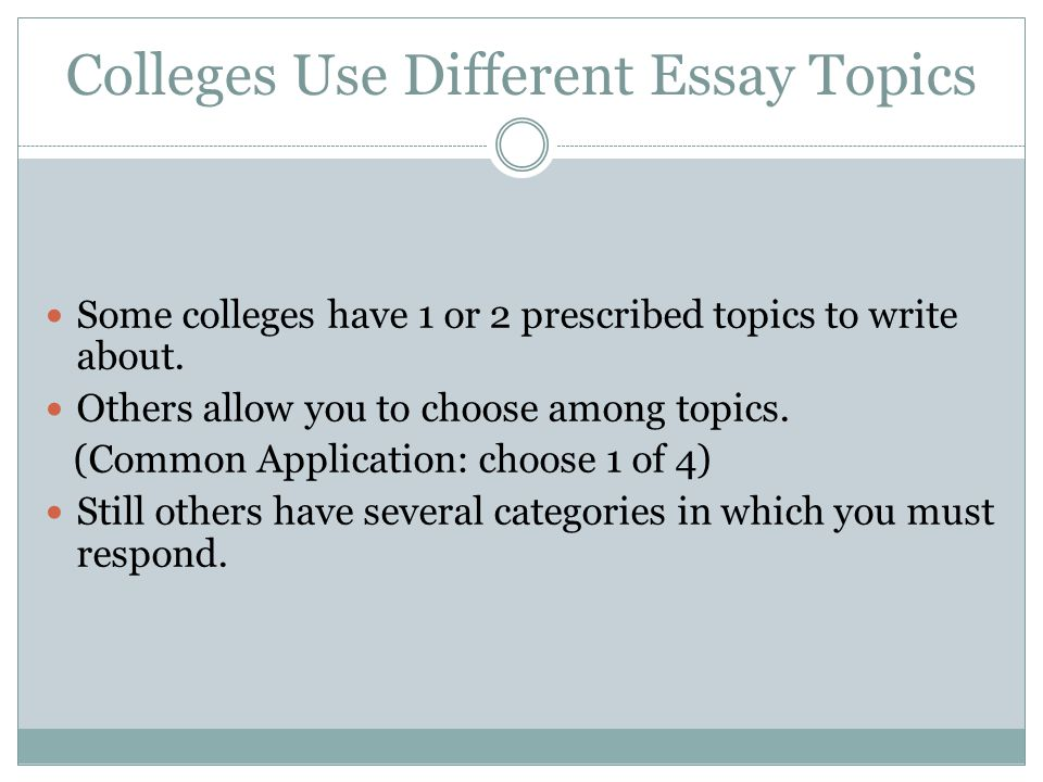 The Yellow Wallpaper Analysis Essay Colleges Use Different Essay Topics Some Colleges Have  Or  Prescribed  Topics To Write About Proposal Essay Ideas also Essay On Health Care Advanced Composition Considerations For Writing Your College Essays  The Newspaper Essay