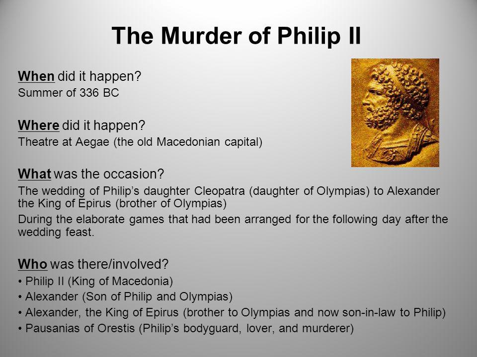 philip ii of macedon assassination