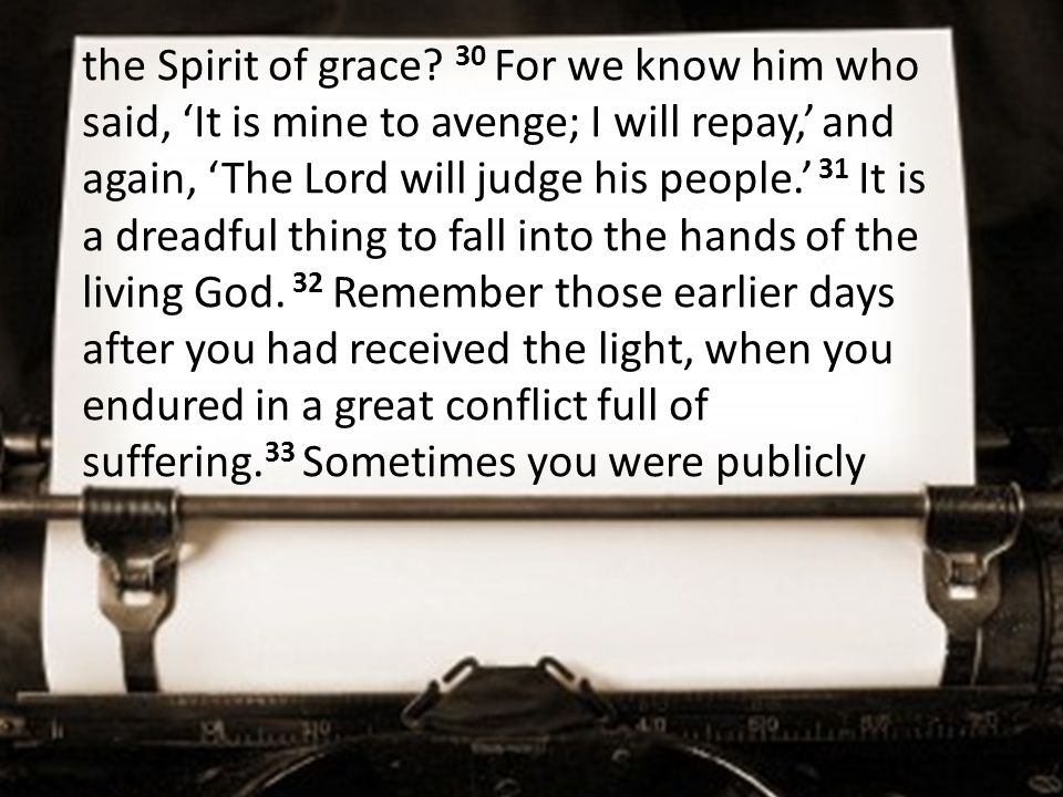 the Spirit of grace.