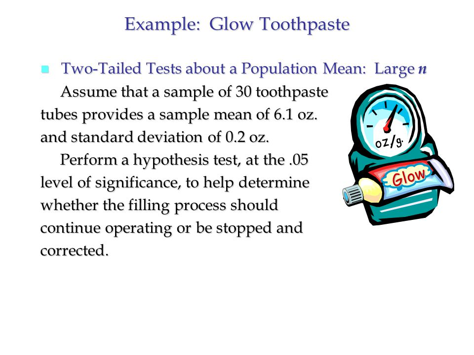 Example: Glow Toothpaste oz.