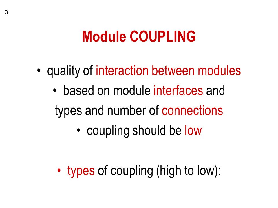 1 Software Design Quality Cohesion And Coupling Part Ii Ppt Download