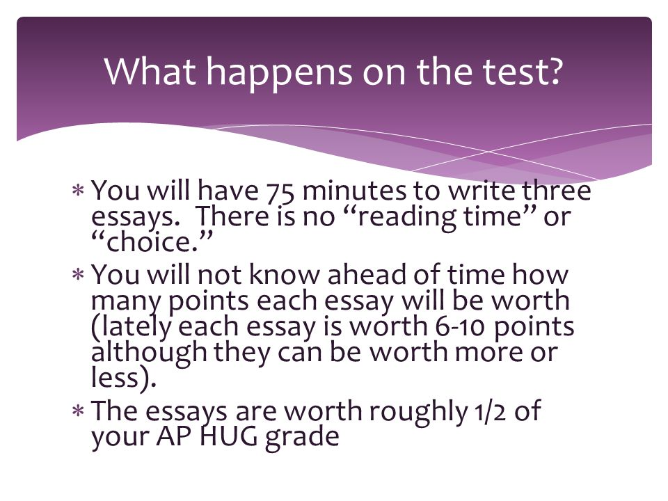Persuasive Essay Topics For High School Students You Will Have  Minutes To Write Three Essays Classification Essay Thesis also English Essay Short Story How To Write An Ap Human Geography Essay  You Will Have   Healthy Eating Essay