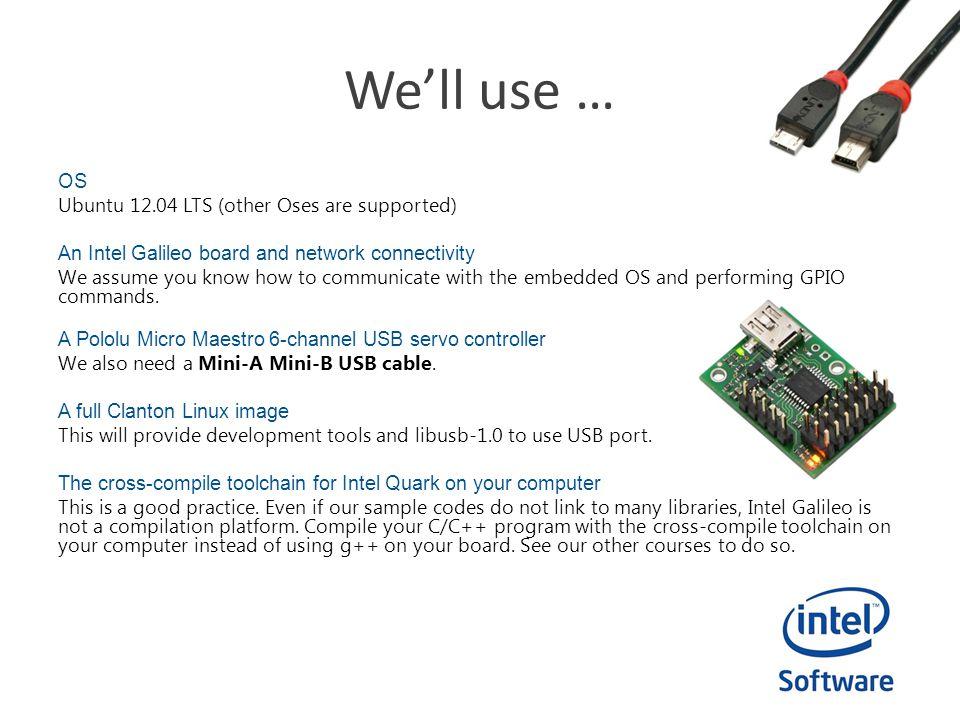 Intel Do-It-Yourself Challenge Pololu USB Controller Nicolas